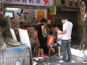 Eating on the street