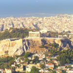 View of Parthenon from Lykabettus Hill