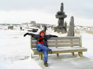 The sitting Inukshuk