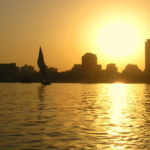 Silhouetted Felucca