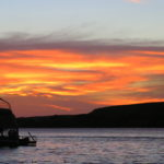 Silhouetted Houseboating
