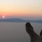 Silhouetted Santorini