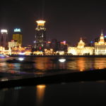 Illuminated Bund in Shangai