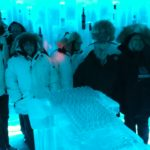 Illuminated vodkas at the Belvedere Ice Bar, Whistler