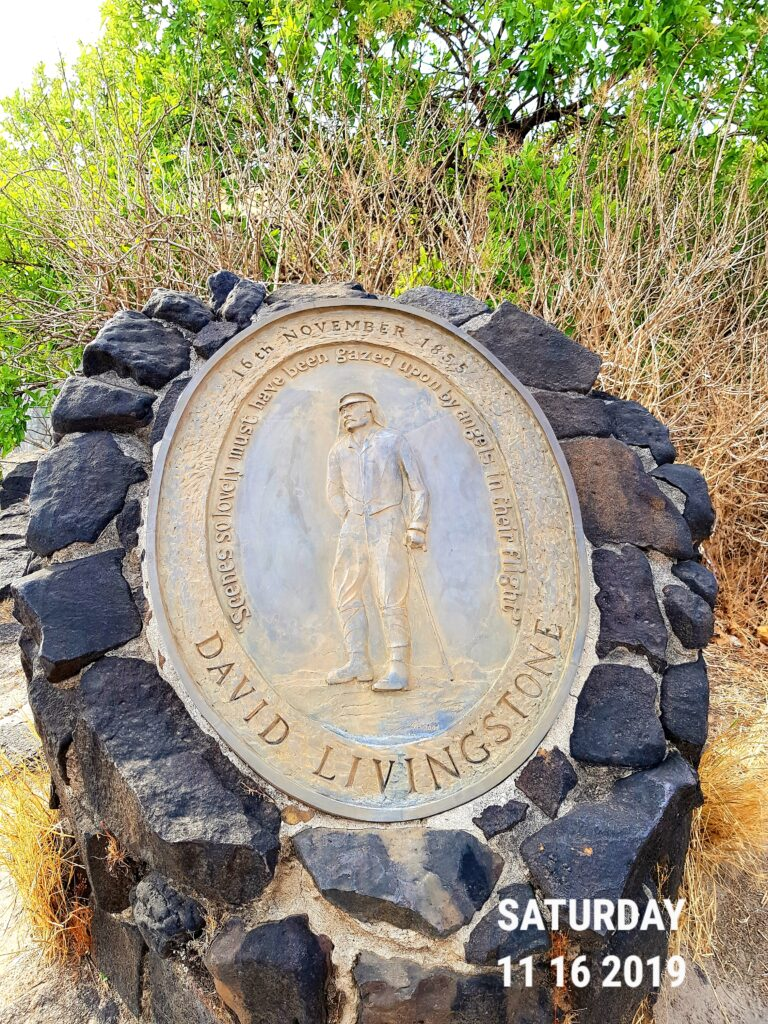 The plaque on Livingstone Island
