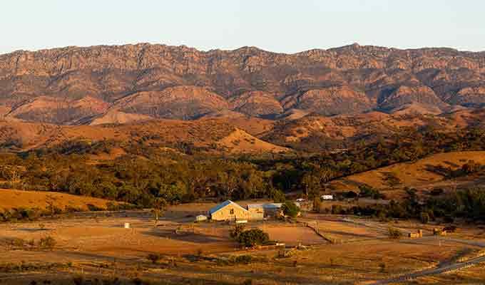 Arkaba Station nestled in the beautiful Flinders Island