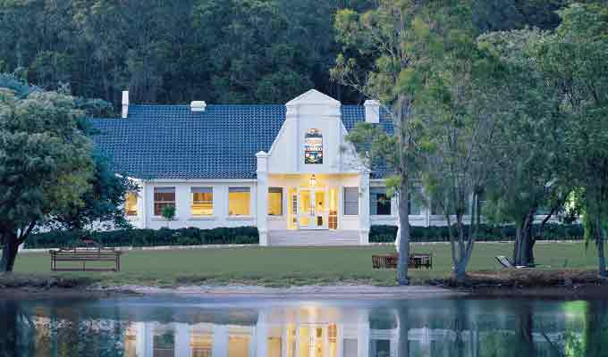 Cape Lodge in Margaret's River wine district