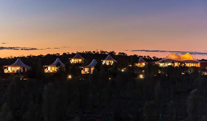 Luxurious eco-sensitive lodges overlooking Uluru