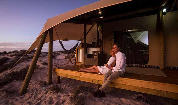 Glamping on Western Australia's beautiful coast at Sal Salis