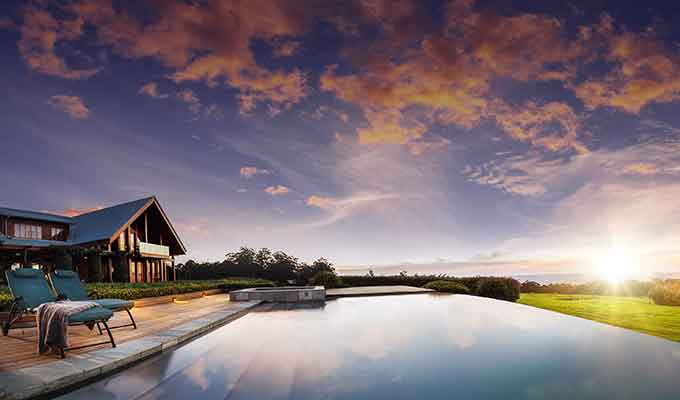 Infinity pool at Spicers Lodge